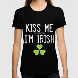 Kiss Me (We Can Pretend) I'm Irish St Patricks Day product T-shirt