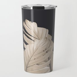 Sepia Banana Leaves Dream #3 #foliage #decor #art #society6 Travel Mug
