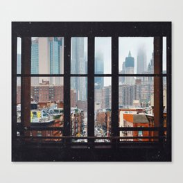 New York City Window Leinwanddruck