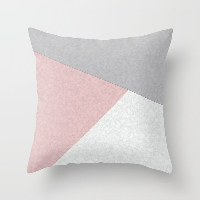 Pink, gray, white, pechvork. Throw Pillow by divine292006 | Society6