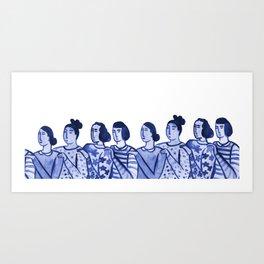 We Got You Girl Art Print