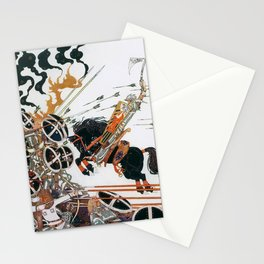 Kay Nielsen - Young People And Black Horses Participating In The War From The Neighboring Country Stationery Cards