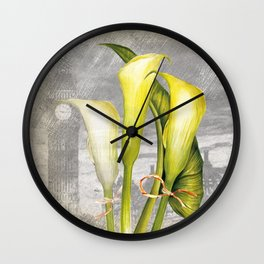 Macro Flower #8 Wall Clock