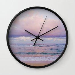 Pastel Beach - Kauai, Hawaii Wall Clock