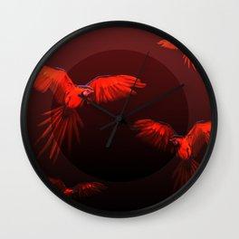 Papagei sunset Wall Clock