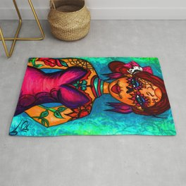 Lady Day of the Dead Rug