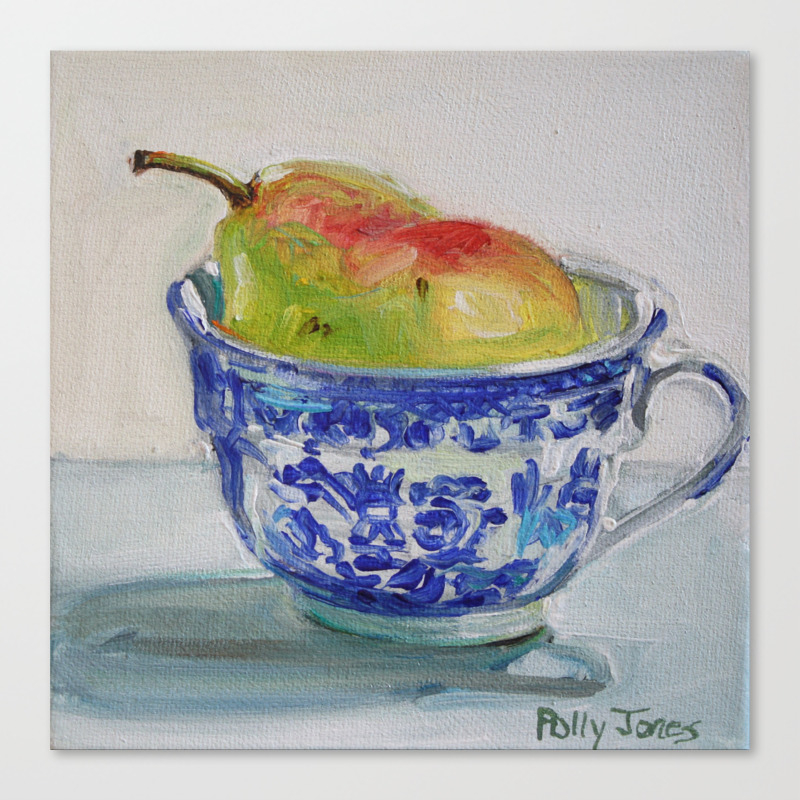 A Cup Of Pear Canvas Print by Pollyjones CNV2926738