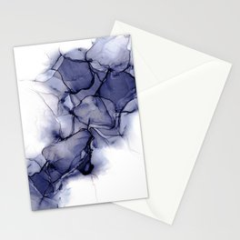 Purple Wispy: Original Abstract Alcohol Ink Painting Stationery Cards
