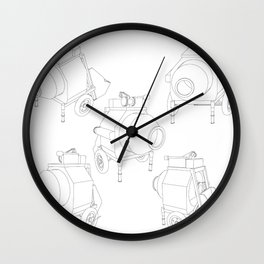 concrete mixer Wall Clock