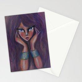 """Mind Reader"" an original mixed media painting by Katrina Koltes Stationery Cards"