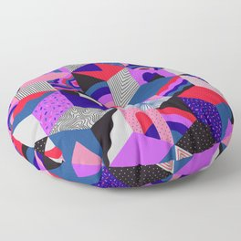 Isometric Cubes - Teal/Orchid/Strawberry Floor Pillow