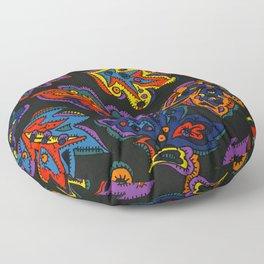 Dream Leaves by Nettwork2Design Nettie Heron-Middleton Floor Pillow