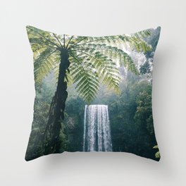 Waterfalls in Bali Throw Pillow