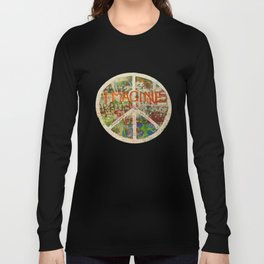 Peace Sign - Love - Graffiti Langarmshirt