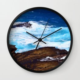 Hawaiian Rocking, Rolling Surf Waves Wall Clock