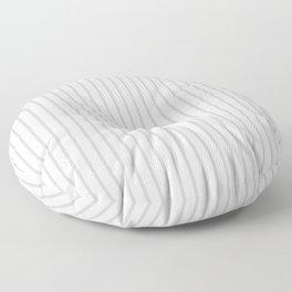 Silver Dandelion Pinstripe on White Floor Pillow