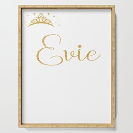 Queens Are Named Evie Personalized First Name Girl print Serving Tray