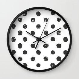 Simple Black & White Dots Wall Clock