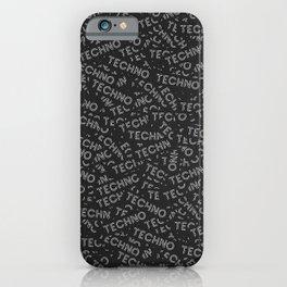 Dozens of techno stickers iPhone Case