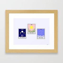 Trio of Tarot Framed Art Print