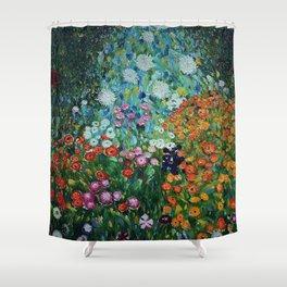 Flower Garden Riot of Colors by Gustav Klimt Shower Curtain