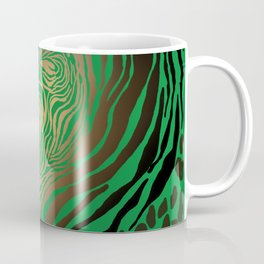 Trendy Golden and green zebra print  Coffee Mug