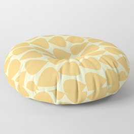 Plectrum Pattern in Pale Mustard Yellow Monochrome Floor Pillow