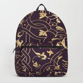 Gold Ornate 2 Backpack
