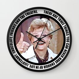 Jessica Fletcher said: There are three things you can never have enough of in life, Lieutenant Wall Clock