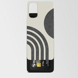 Mid Century Modern - Sun & Rainbow BW Android Card Case