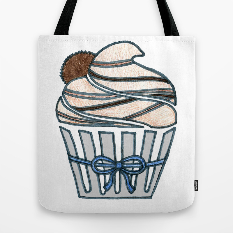 Peanut Butter Cup Cupcake Tote Bag by Designthebranch TBG7823996