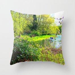 Sailing The Norfolk Broads, U.K Throw Pillow