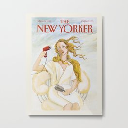 "Cover of "" The new Yorker"" magazine. May. 25 1992. Metal Print"