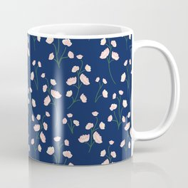 Blushy blooms midnight garden floral print seamless vector pattern Coffee Mug