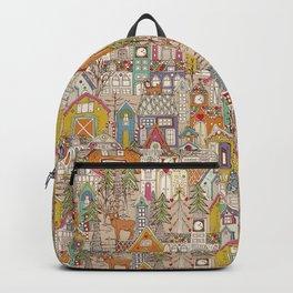 vintage gingerbread town Backpack