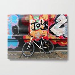 Joy & bike Metal Print