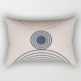 Abstraction Rainbow Archs Rectangular Pillow