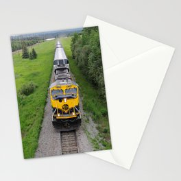 Alaska Railroad Train - Fairbanks - Summer Solstice Stationery Cards