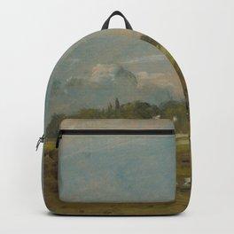John Constable - Hampstead Heath, with a Bonfire Backpack