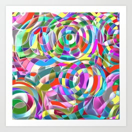 Abstract Spiral Colors Art Print