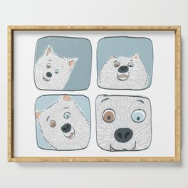 Dog Eye Contact Serving Tray