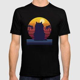 Island Cat Life Retro Aesthetic T-shirt