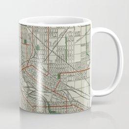 Vintage Map of Minneapolis Minnesota (1921) Coffee Mug