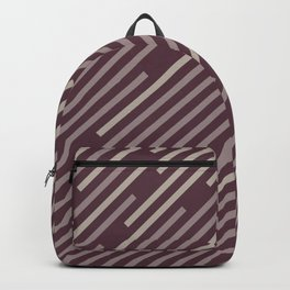 Purple Pink-Purple Taupe Gray Stripe Pattern 2021 Color of the Year Epoch and Accent Shades Backpack