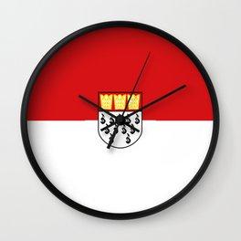 Flag of Cologne Köln Wall Clock