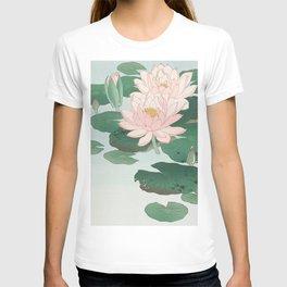 Water Lilies - Japanese vintage woodblock print T-shirt