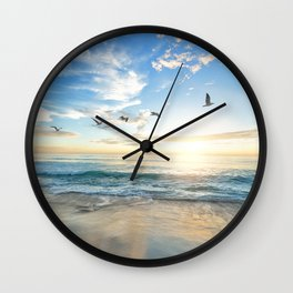 Beach Scene 34 Wall Clock