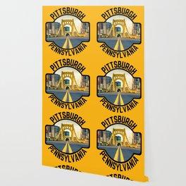 Pittsburgh Pennsylvania Steel City Skyline Bridge 412 Pride Wallpaper