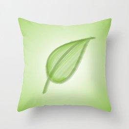 Bristle Brush Leaf Throw Pillow