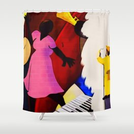 African American Masterpiece 'The Whitewash of Gentrification' Shower Curtain